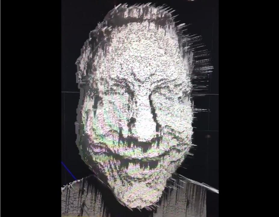 ちょい怖い? iPhone Xの「Face ID」RAWデータはこうなるらしい