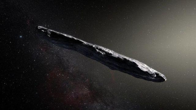 史上初、太陽系の外から小さな天体「オウムアムア」が飛んできた