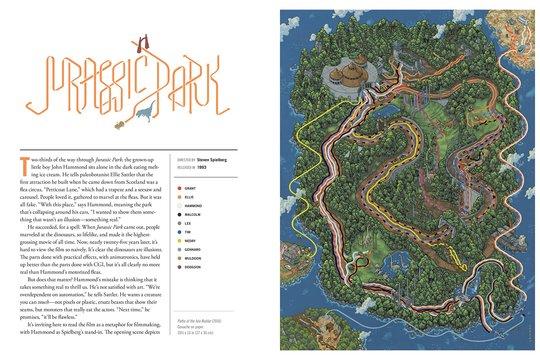 映画の世界をマップで表現した本