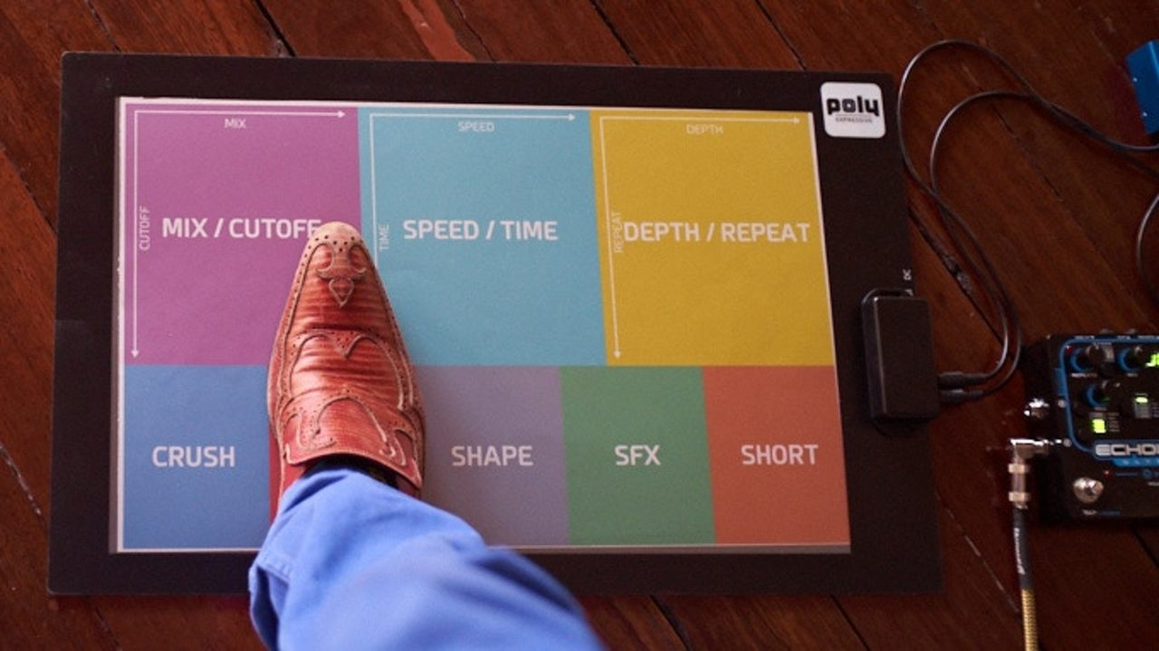足でXYパッドを操作できる、マットのようなMIDIフットコントローラーが登場