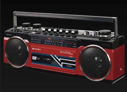 ビバ80年代! MP3もSDカードもBluetoothも使えるステレオラジカセ「SCR-B2」