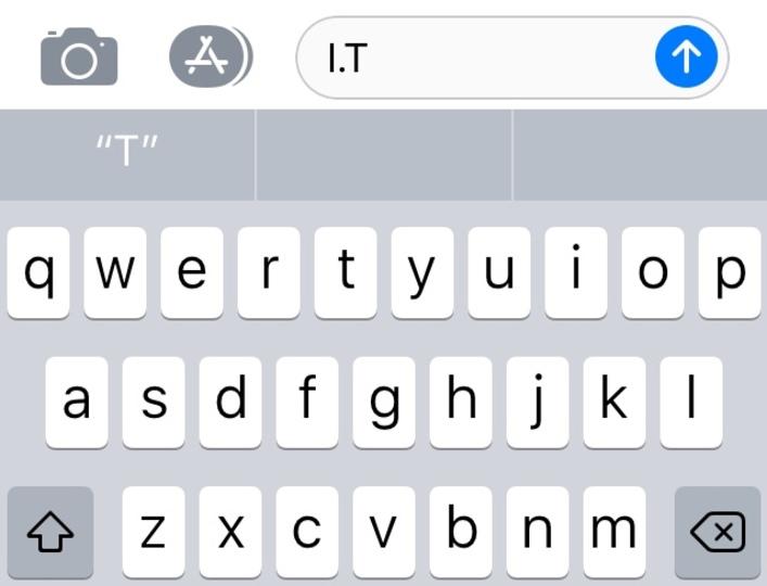 iOS 11はついに「it」も「is」も打てなくなってしまった…