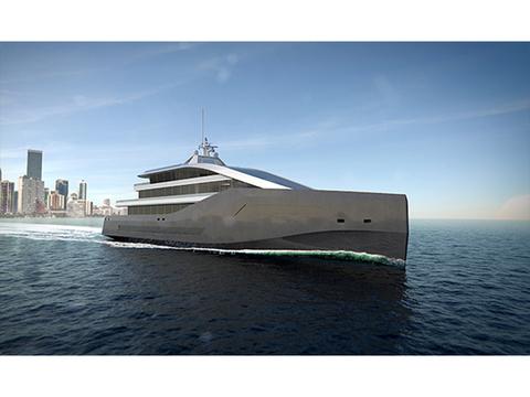 ロールス・ロイスによる豪華ヨットのコンセプト・デザイン「Crystal Blue」号