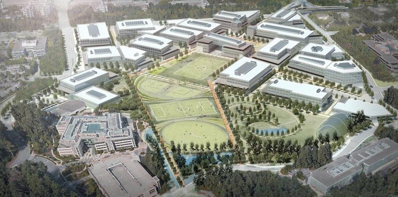 Apple新本社もいいけど、Microsoft新本社もね。スポーツ施設が並ぶ建設計画が公開