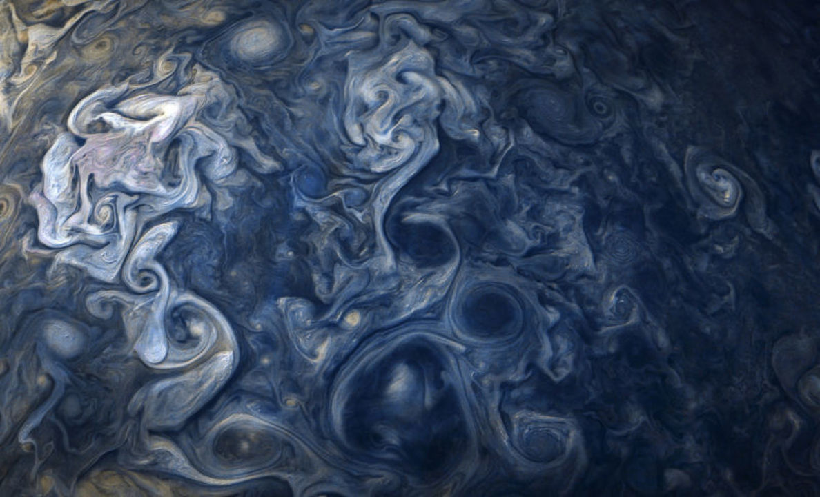 宇宙が織りなすアート。木星で撮影した乱気流が幻想的すぎる
