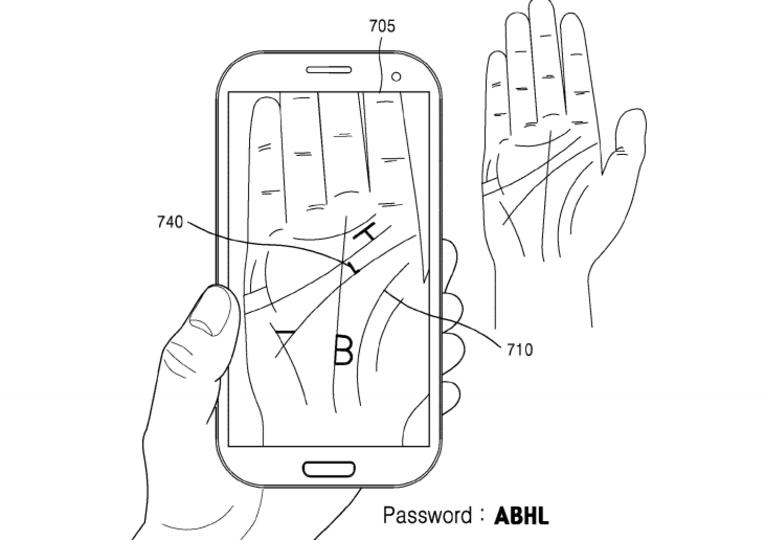 カメラで手相を認識し、パスワードのヒントを表示するSamsungの特許が申請される