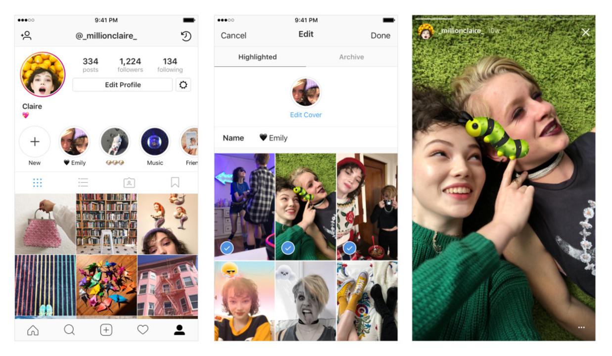 Instagramの24時間で消える「ストーリーズ」が残せるように! アーカイブをじゃんじゃんハイライトに飾っちゃいましょう