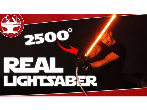300ボルトで2500度に発熱する、リアルな自作ライトセーバー
