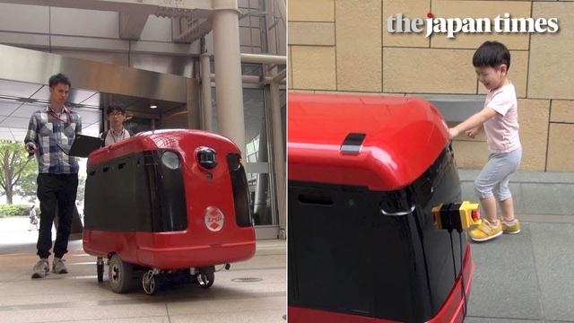 ゆうパックを運ぶロボット台車。福島県で実証実験がスタートへ