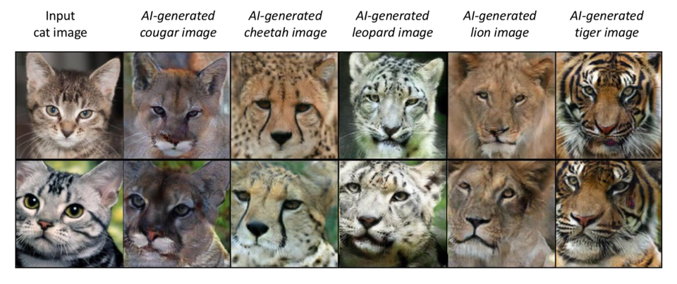加工とは思えない...最新AIがネコを猛獣に変身させる
