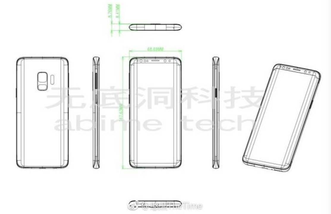 Galaxy S9の図面スケッチ画像がリーク! ぼんやりと本体デザインが見えてきましたよ。