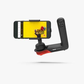 L字グリップで両手持ちしやすい新型iPhone用ジンバル
