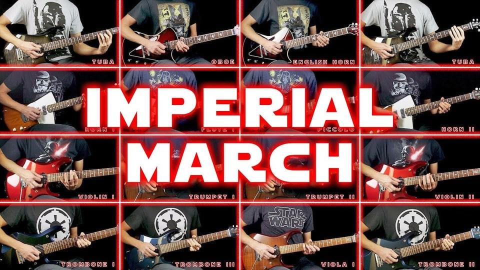 映画『スター・ウォーズ』の『帝国のマーチ』28種の楽器パートをエレキギターで再現