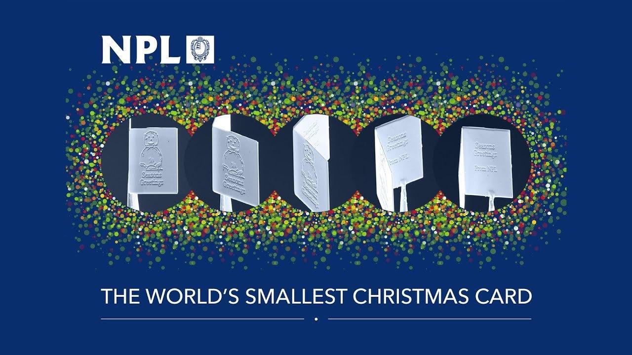 送られても絶対の絶対に気付けない、世界最小のクリスマスカードが開発される