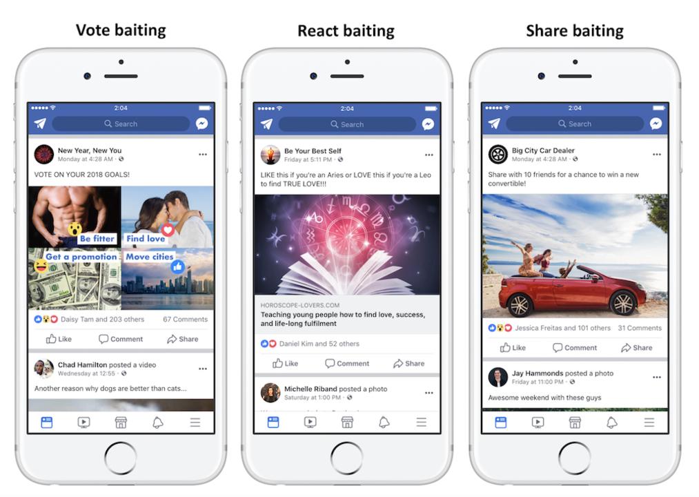 Facebook、いいねやコメント、シェアを募る投稿の格下げを実施へ