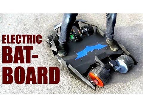 ラジコンで走らせる! 『ダークナイト』バットモービル風電動スケートボードをDIY
