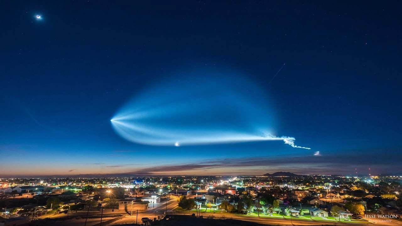 超美麗! Space XのFalcon 9が飛んでいく景色