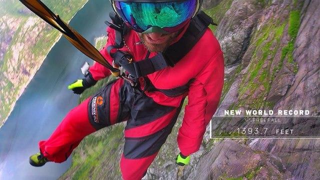424mの垂直落下、フリーフォール世界記録達成。その瞬間をGoPro目線で