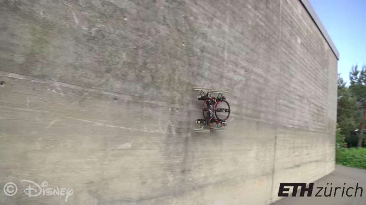 ディズニーリサーチが作った壁を走る車型ロボット「VertiGo」