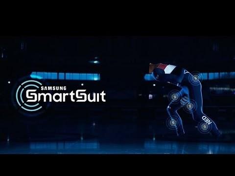 スピードスケート選手の動きをコーチが即座にチェックできるSamsungの「スマートスーツ」