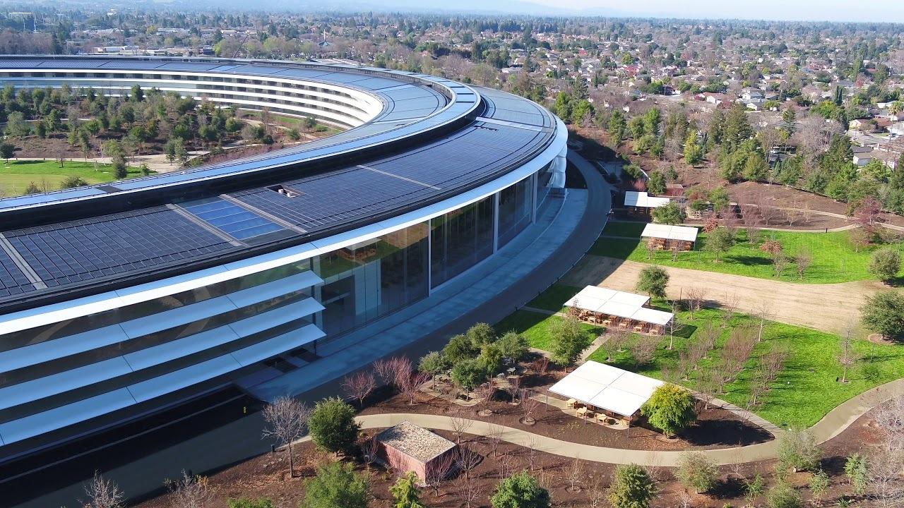 2018年初撮り! アップル新本社の完成度をドローン空撮でどうぞ