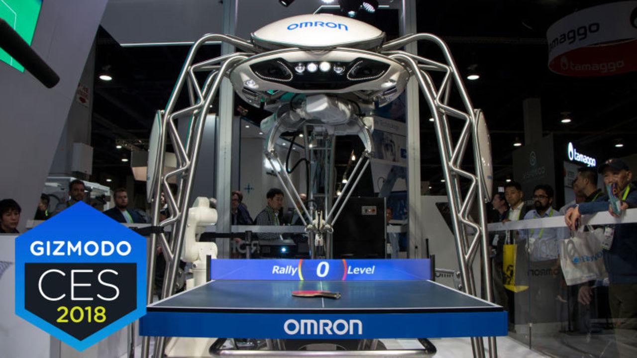 オムロン開発の卓球トレーナー・ロボ「FORPHEUS」は愛情にあふれています