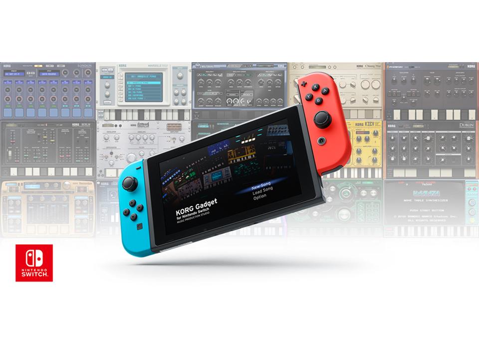 Nintendo Switchで曲作りができる「KORG Gadget for Nintendo Switch」が、2018年春に発売予定