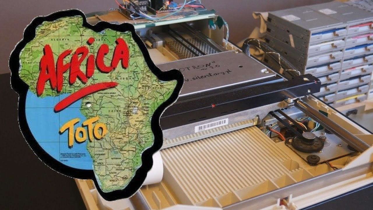 64個のFDDと8個のHDD、2つのスキャナーに名曲『Africa』を演奏させてみた