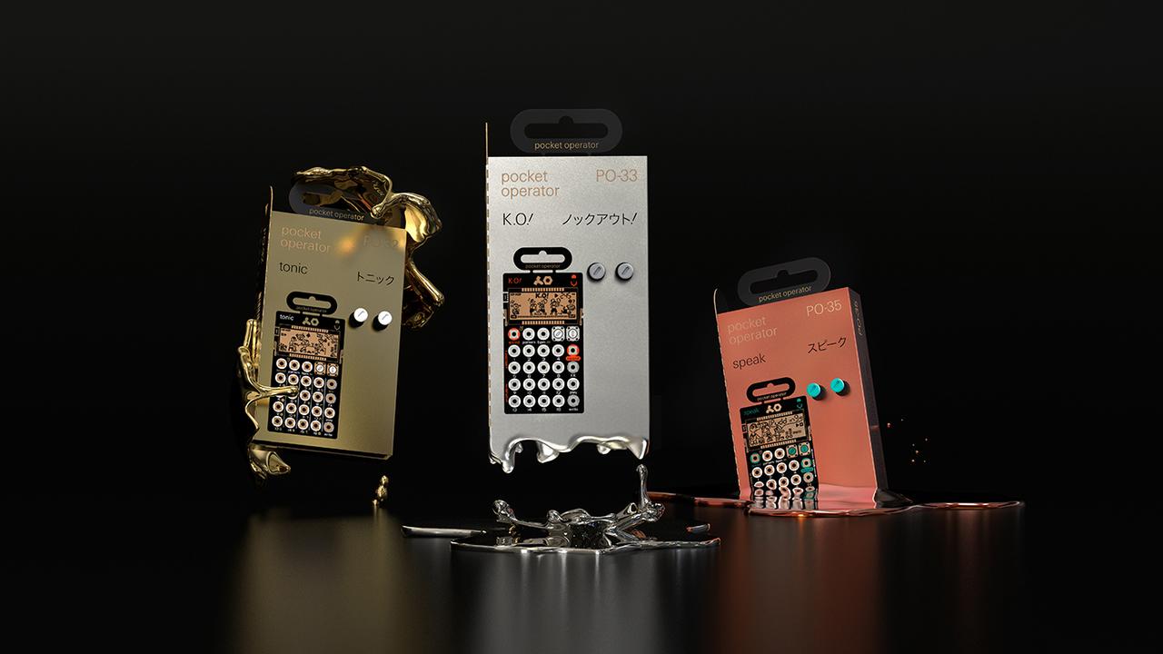 電卓シンセでサンプリングできたら、それはもう最強かなって。マイクを内蔵したPocket Operator「PO-33 K.O.!」「PO-35 speak」が登場