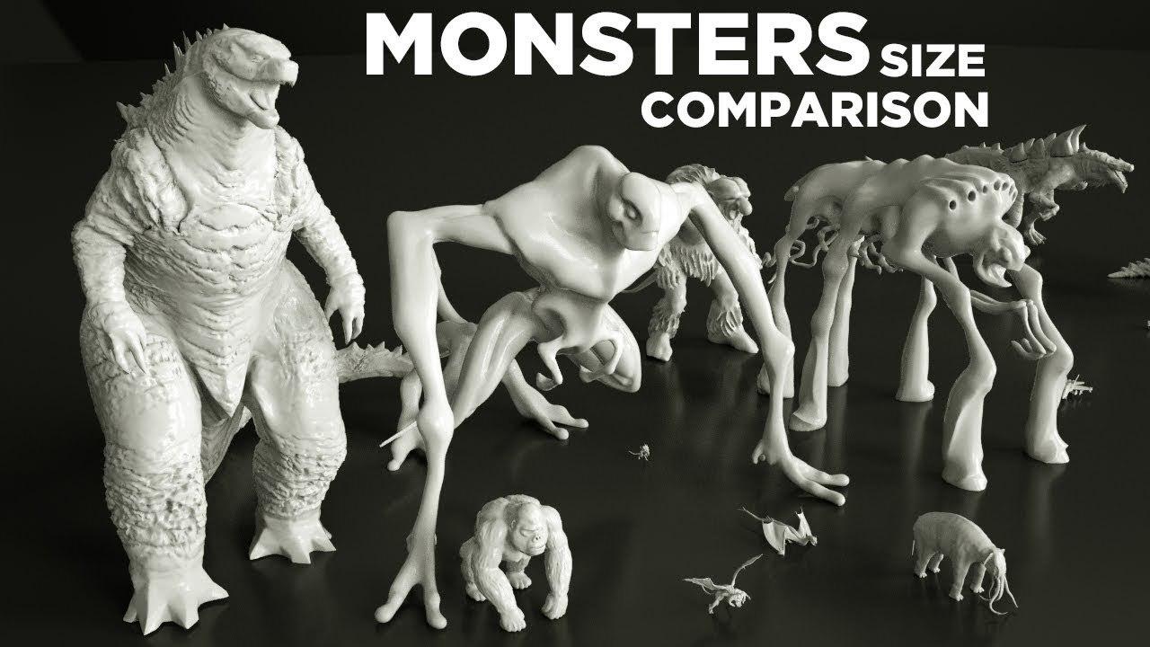 マシュマロマンからゴジラまで。怪物たちの身長を比べる映像