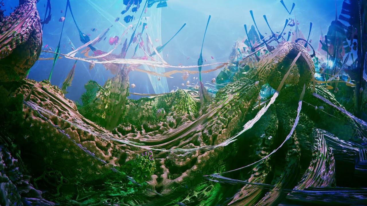 3Dフラクタルで作られた、ハイになりそうなミュージックビデオ