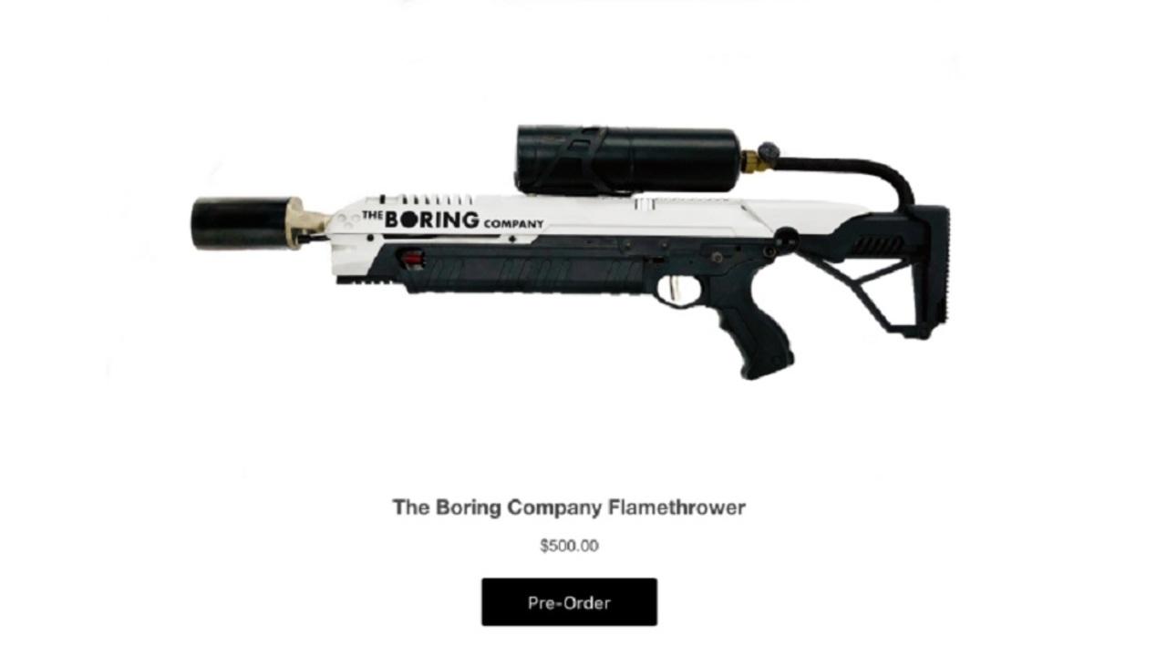 火炎放射器が500万ドル分も売れてイーロン・マスクがおおはしゃぎ