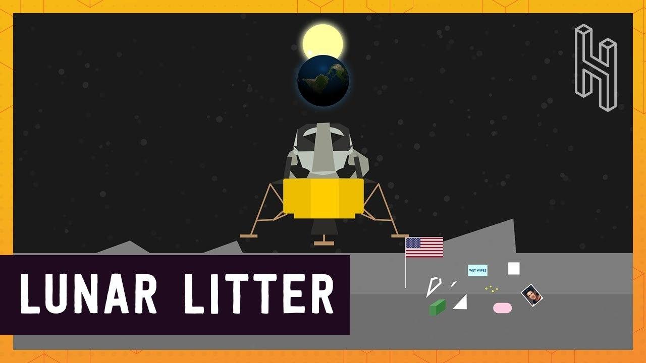 人類は月に約180トンものいろいろな「ゴミ」を捨てていた