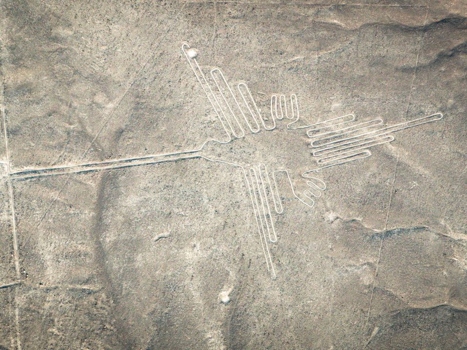 ナスカの地上絵、「迷った」トラッ...
