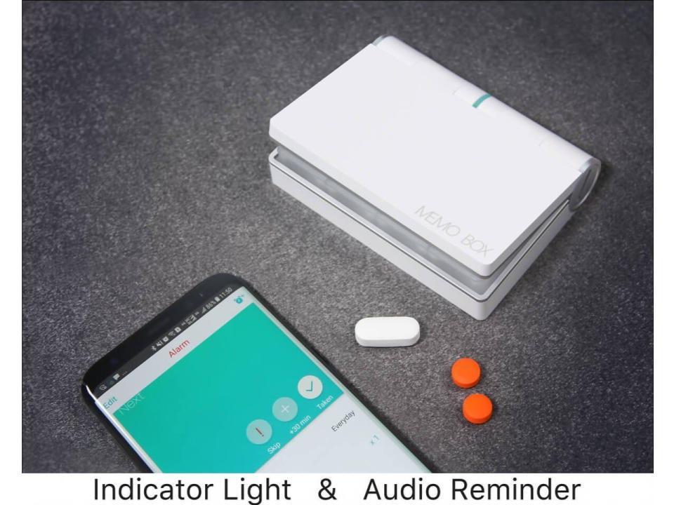 アラーム機能で飲み忘れ防止。スマホと連携できるお薬ボックス「Memo Box Smart Pillbox」