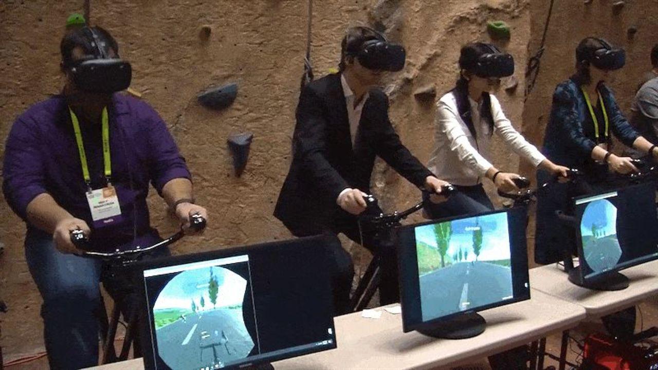 やってみたい? VRでゲームしながらワークアウトもする、進化系フィットネスバイク