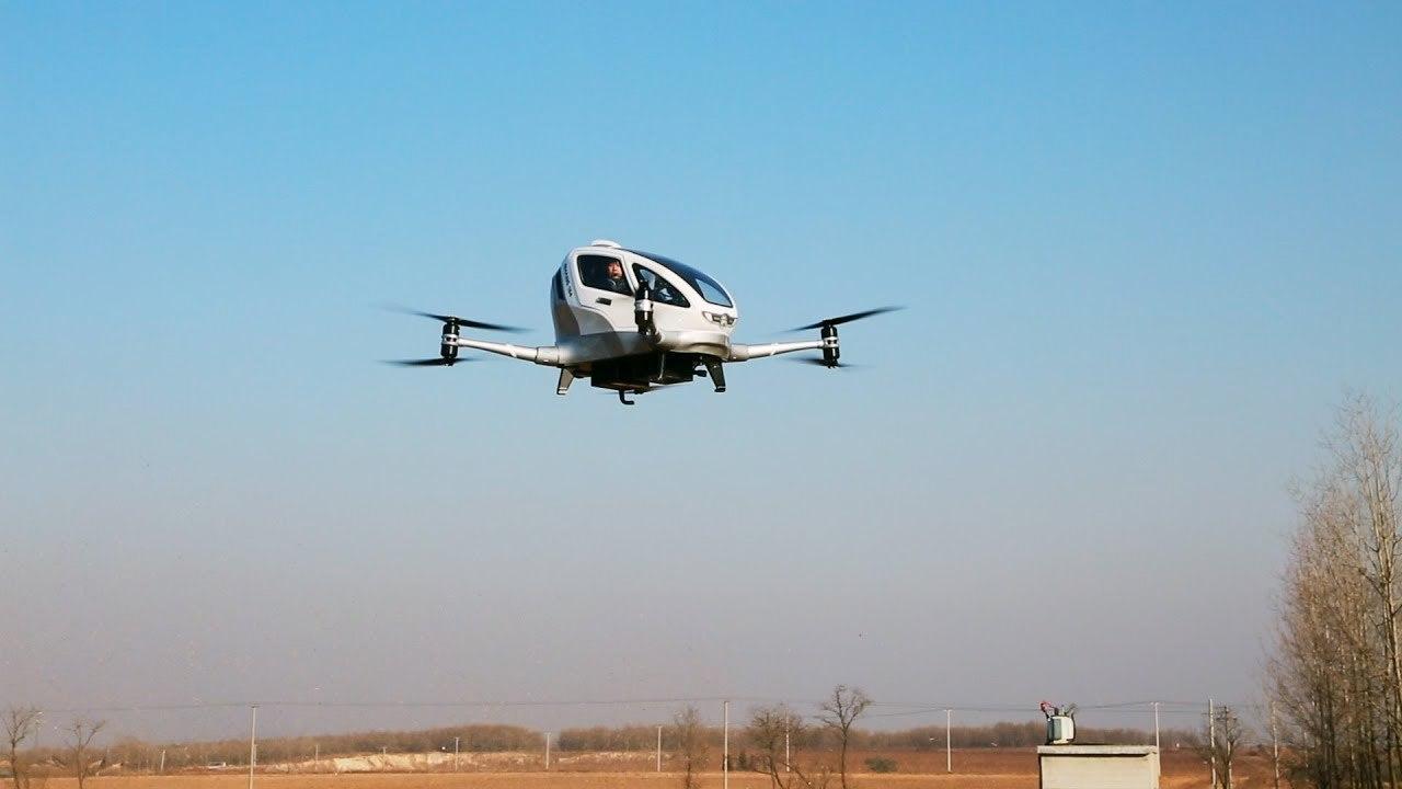 中国のドローンは人を乗せて空を飛ぶ。およそ1,000回テスト済み