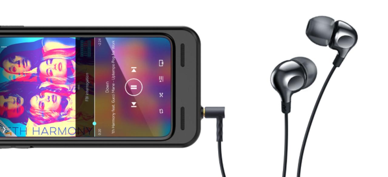 なんとDACも付いている。3.5mmジャックを搭載したiPhoneケース