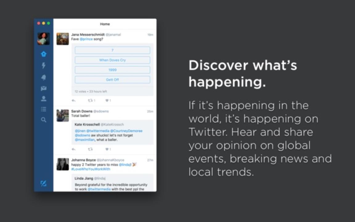 サラバ! TwitterのMac向け公式アプリがディスコンに