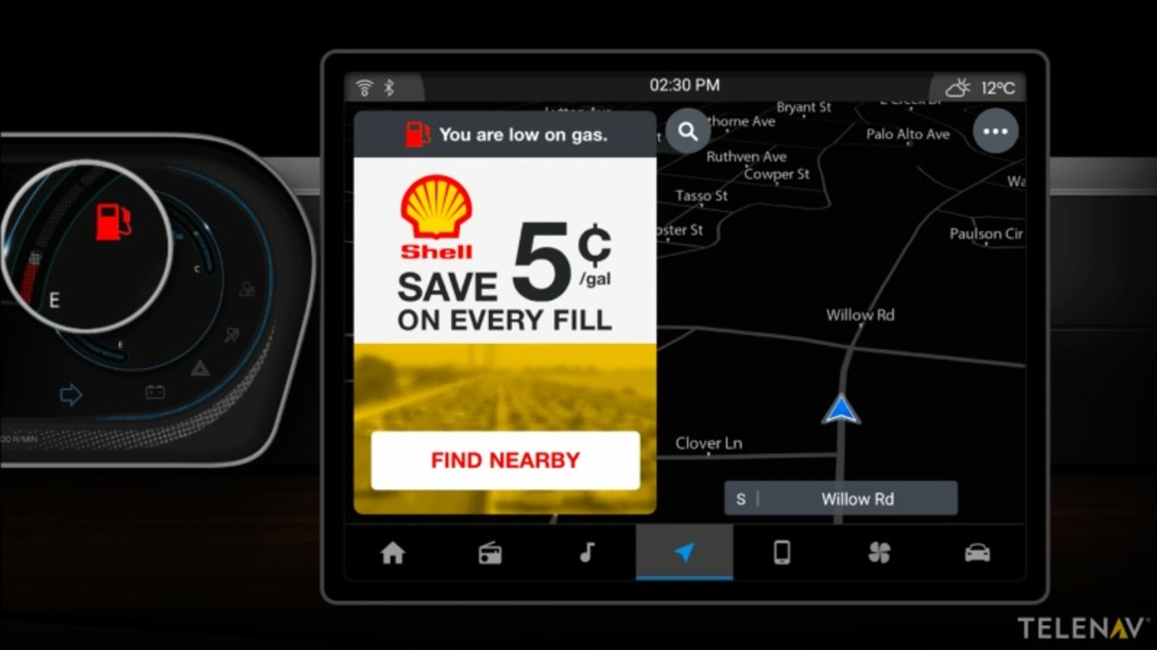 なんか気持ち悪い\u2026。将来、スマートカーは広告をポップアップするように