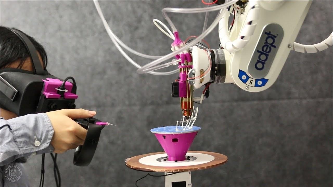 AR越しにプロトタイプを3Dプリントさせるロボット・アーム「RoMA」