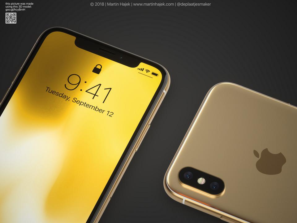 新型iPhone Xのゴールド色はこんなにもまばゆく輝く?