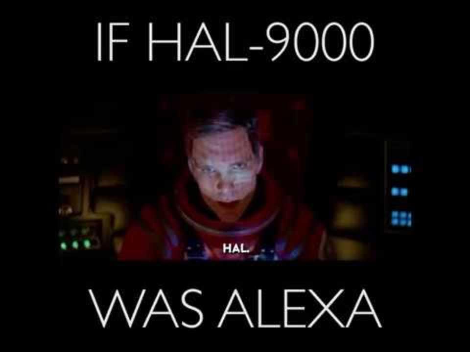 もしも『2001年宇宙の旅』のHAL 9000がAmazon Alexaだったら?