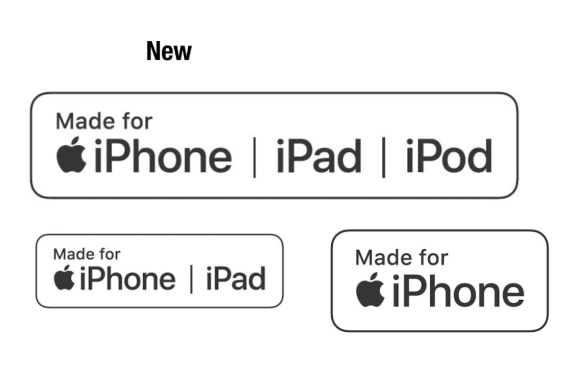 Apple、認定アクセサリであることを示す「MFi認証」ロゴを見やすくアップデート