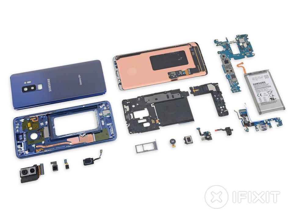 Samsungの新スマホ「Galaxy S9+」をサクッと分解レポート