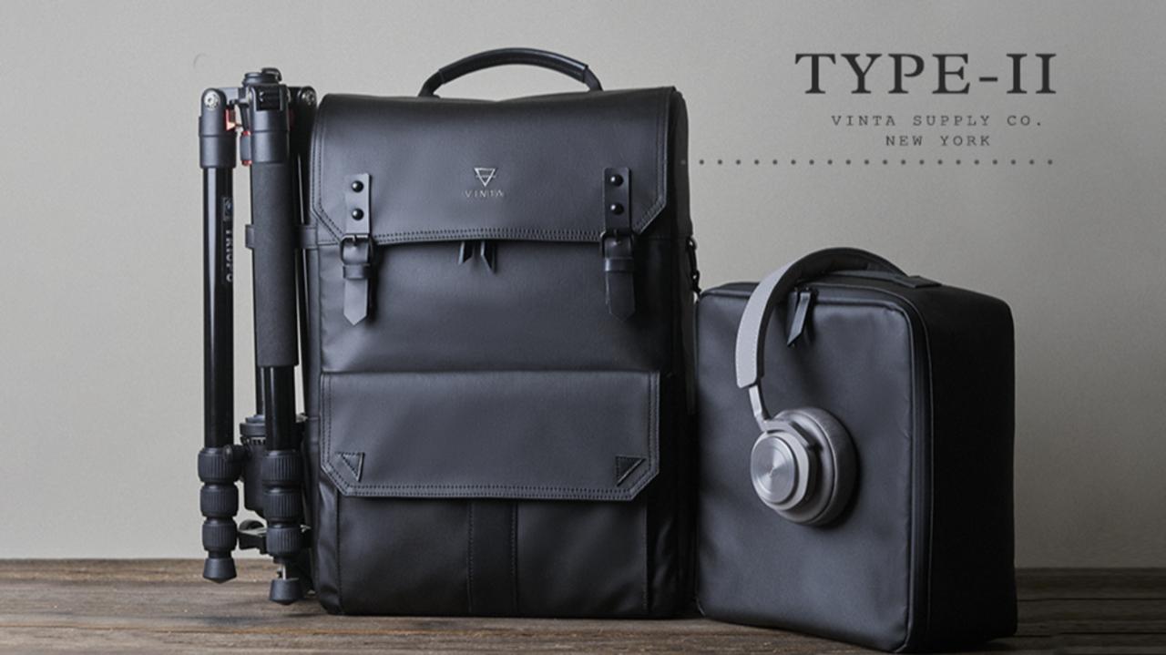 美しく、直感的。日常使いから旅行まで幅広く使えるバックパック「Type II 」がキャンペーンを開始