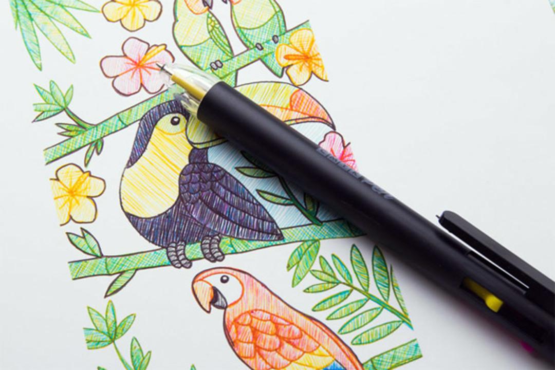 これ一本でフルカラーの描写が可能に!「CMYKペン」