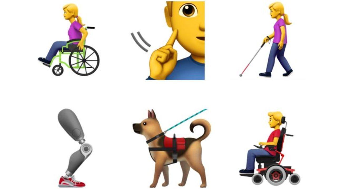 車椅子から義肢、盲導犬も。Appleが障がいに関する絵文字を提案