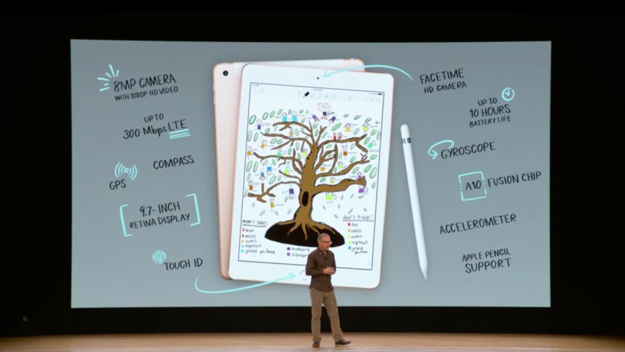 新型iPad発表! Apple Pencil対応で9.7インチ、一般向けは329ドル