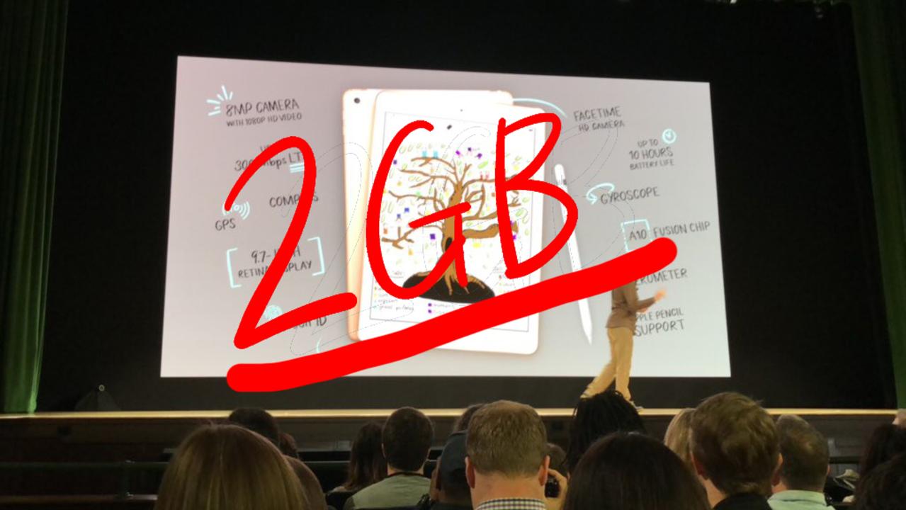 新型iPadのRAMは2GBの模様。ベンチマークスコアより